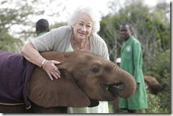 Dame Daphne Sheldrick and Dida