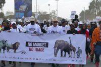 Der Globale Marsch für bedrohte Tierarten in Nairobi