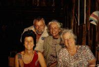 Von links: Jill Woodley, Hans-Helmut Röhring, Barbara Voigt-Röhring und Daphne Sheldrick