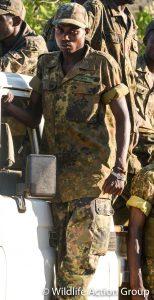 Gift Banda ist unser jüngstes Team-Mitglied und für einen Malawier ungewöhnlich groß. Sein Körperbau erinnert eher an den eines Kenianers und er ist ein Ausdauerläufer durch und durch. (c) Wildlife Action Group